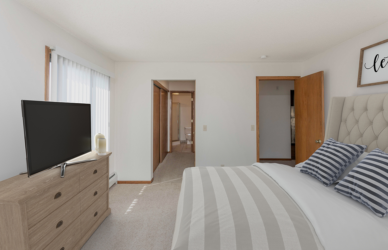 The Elm (2 Bedroom): Features TWO full-size closets!