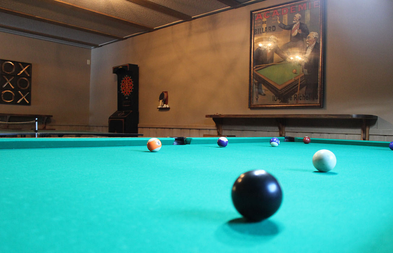 Game room with billiards...