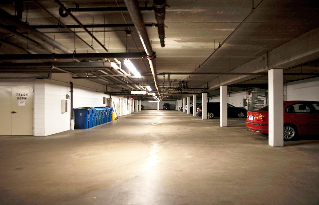 Heated underground parking