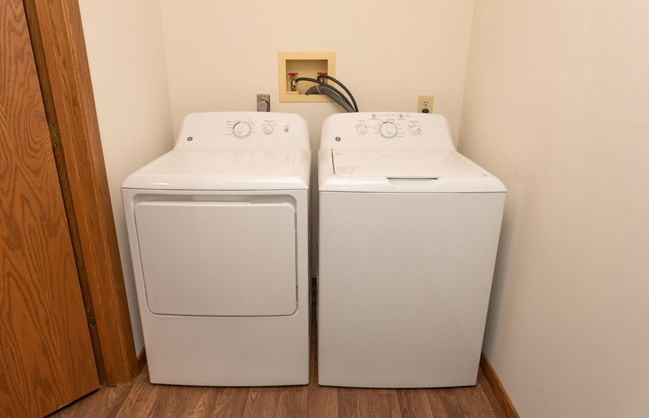 Full-size washer and dryer in home!