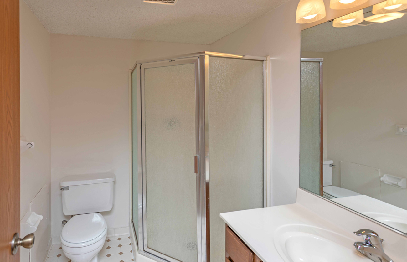 All 2 bedrooms feature 2 bathrooms (stand up shower in second bath)